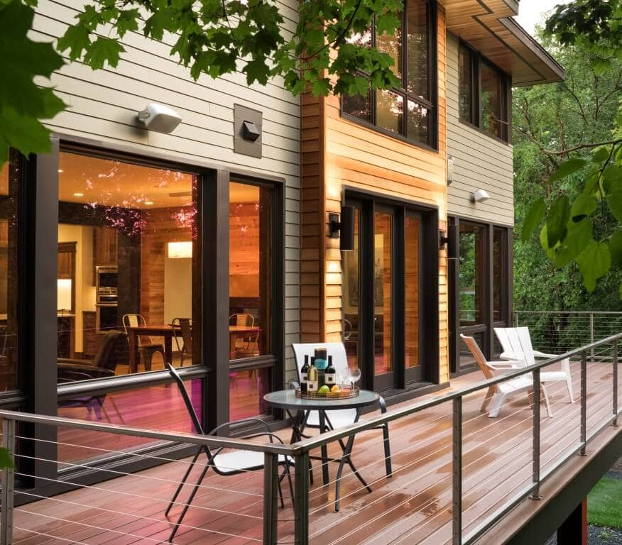deck in modern home in edina built by sustainable9