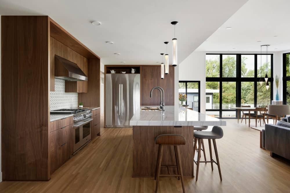 bright modern dark wood kitchen by sustainable 9