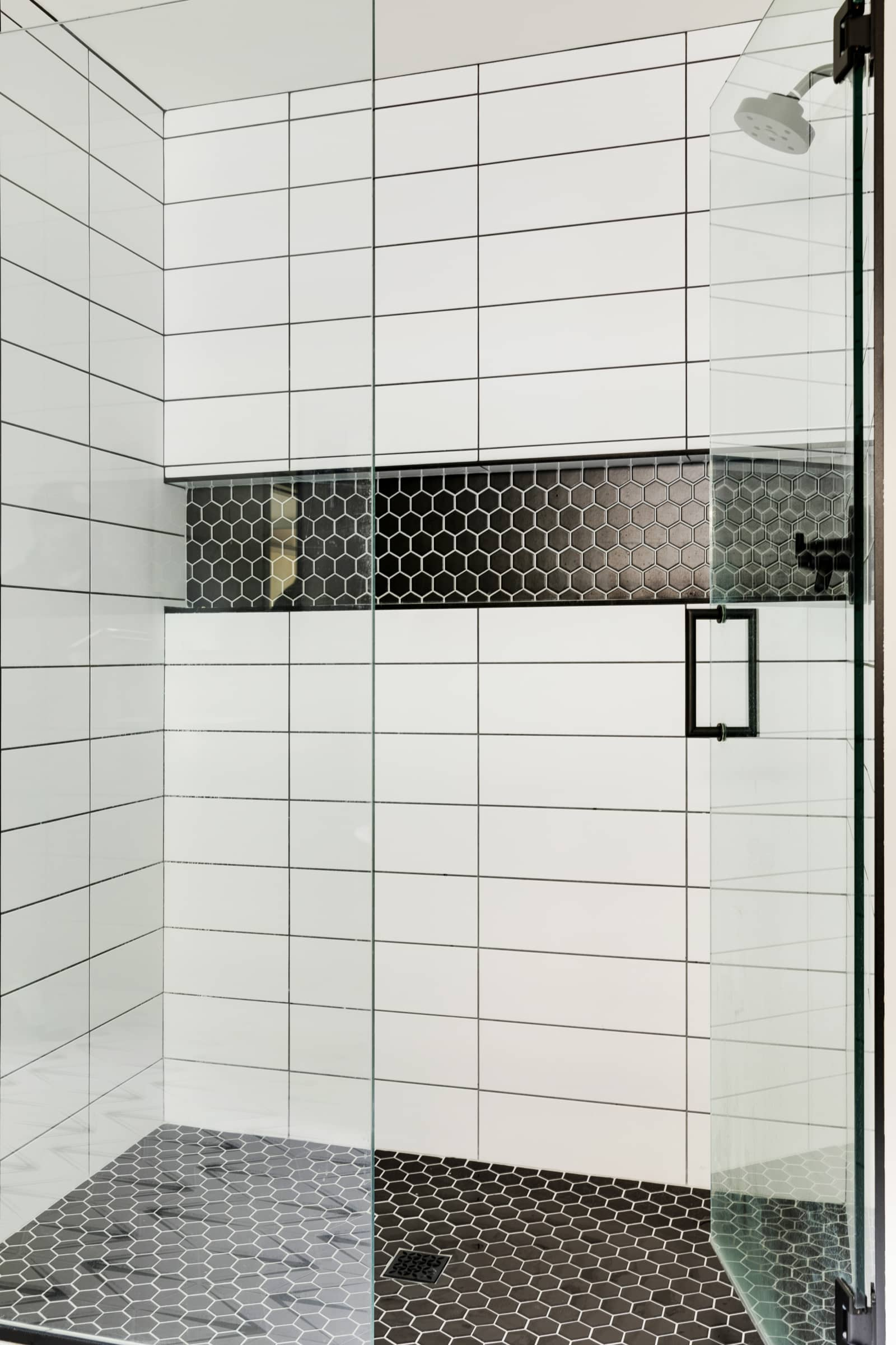 White shower inspiration in a modern home
