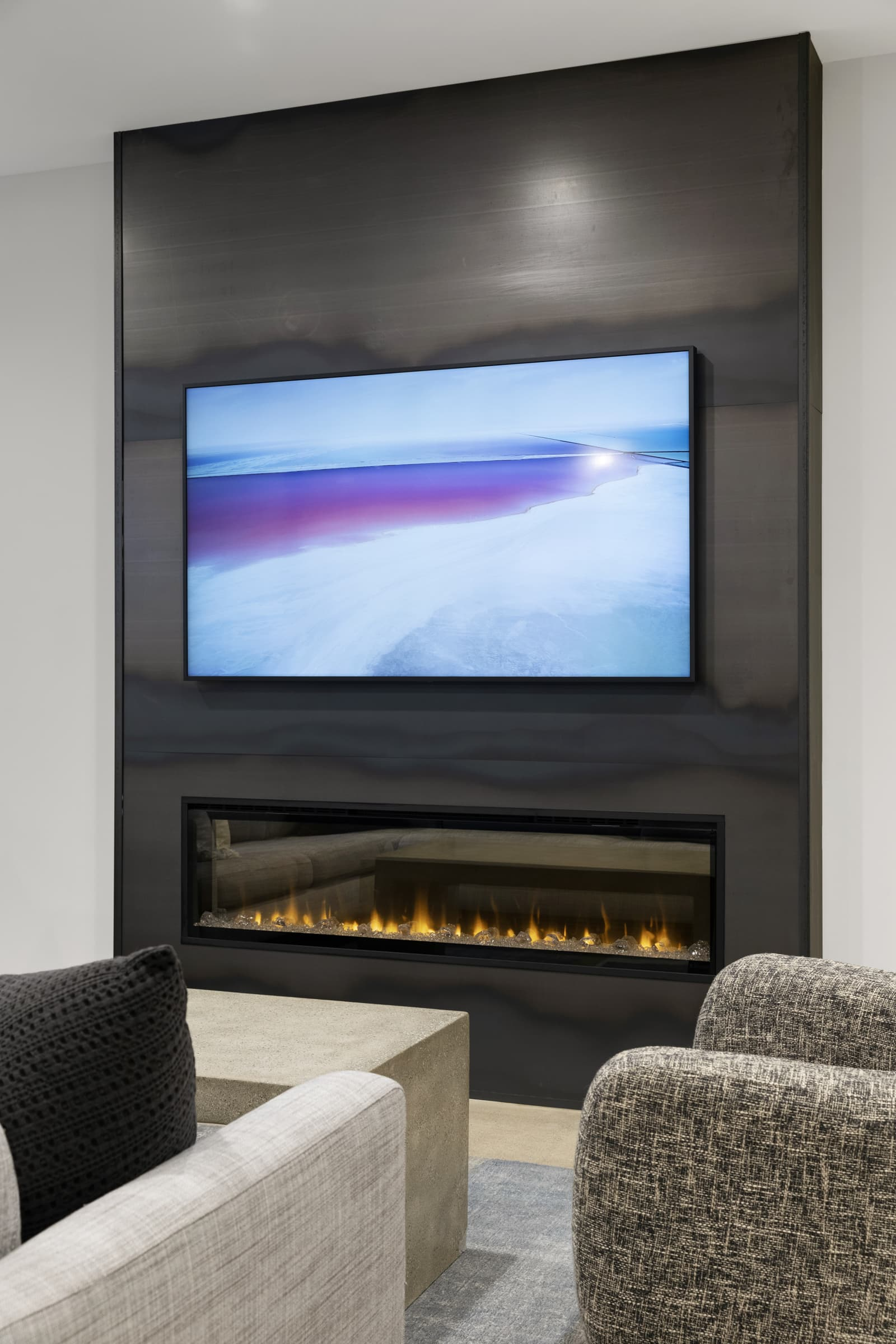 TV in modern home layout